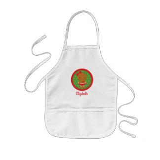 Lebkuchen-Mädchen-personalisierte Kinderschürze