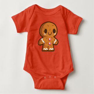 Lebkuchen-Mann-Baby-Jersey-Bodysuit Baby Strampler