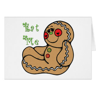 Lebkuchen-Mann essen mich lustiges Weihnachten Karte