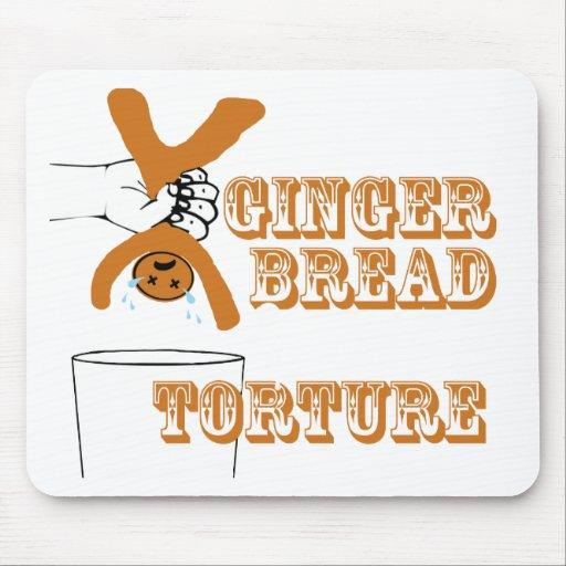 Lebkuchen-Mann-Folterungs-seltsamer Spaß Mousepads