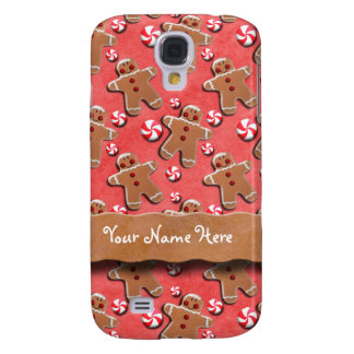Lebkuchen-Mann-Plätzchen-Süßigkeiten rot Galaxy S4 Hülle