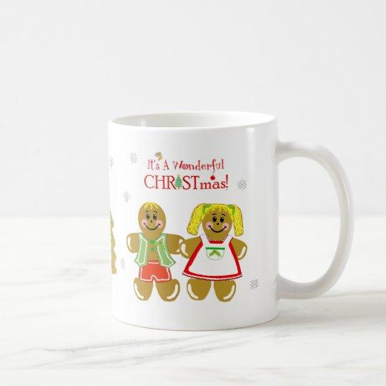 Lebkuchen-Mann u. Frauen-WeihnachtsTasse Tasse