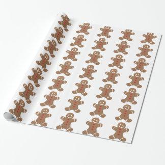Lebkuchen-Mann-Weihnachtsfeiertags-Verpackung Geschenkpapier