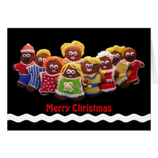 Lebkuchen-Mann-Weihnachtskarte Karte