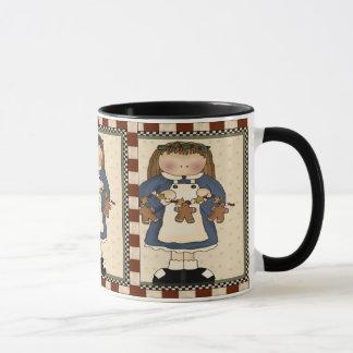 Lebkuchen-Plätzchen-Mädchen-Tasse Tasse