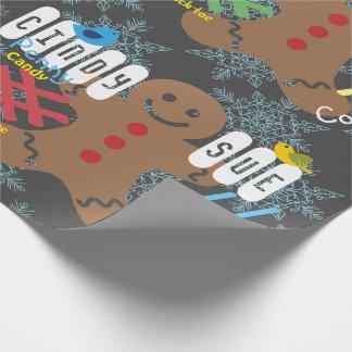 Lebkuchen-Tafel-Name-Geschenk-Verpackung Geschenkpapier