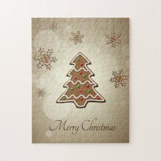 Lebkuchen-Weihnachtsbaum - Puzzlespiel