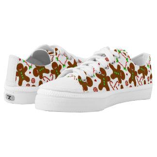 Lebkuchenmann Weihnachten personalizable Niedrig-geschnittene Sneaker