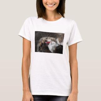 Lecken des Tatzen-Katzen-Shirts T-Shirt