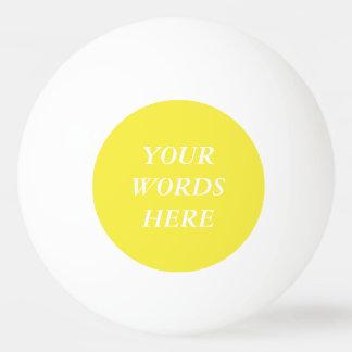 Leckeres Lilien-Gelb-Normallack Ping-Pong Ball