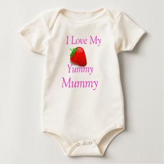 Leckeres Mama-Baby wachsen Baby Strampler