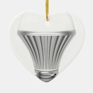 LED-Birne Keramik Herz-Ornament