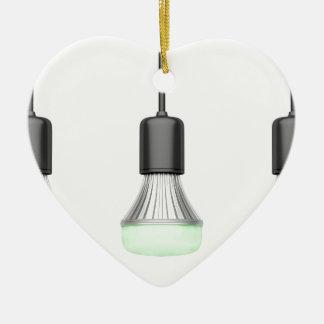 LED-Birnen mit verschiedenen Farben Keramik Herz-Ornament