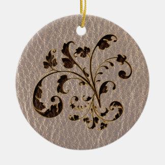 Leder-Blick Blumenstrauß 2 weich Rundes Keramik Ornament