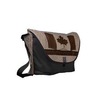 Leder-Blick Kanada-Flagge weich Kuriertasche