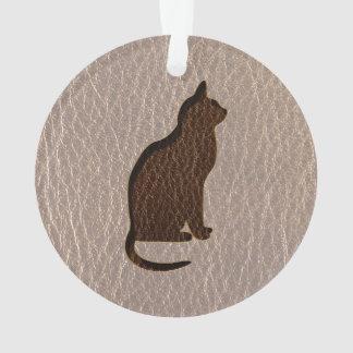 Leder-Blick Katze weich Ornament
