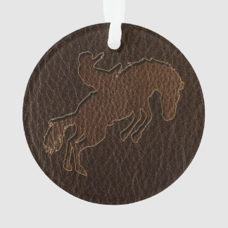 Leder-Blick Rodeo-Dunkelheit Ornament