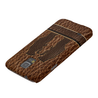 Leder-Blick schwarzer Bär Galaxy S5 Hüllen