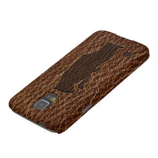 Leder-Blick schwarzer Bär Samsung S5 Hüllen