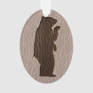 Leder-Blick schwarzer Bär weich Ornament