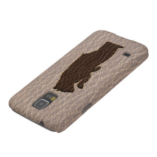 Leder-Blick schwarzer Bär weich Samsung S5 Hülle