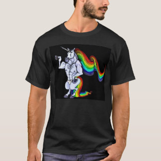 Lederfarbenes Einhorn T-Shirt