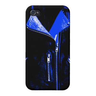 Lederjacke-Blau iPhone 4/4S Cover