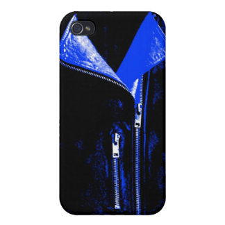 Lederjacke-Blau iPhone 4 Case