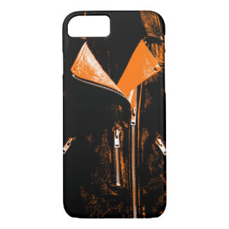 Lederjacke orange iPhone 7 Kasten iPhone 8/7 Hülle