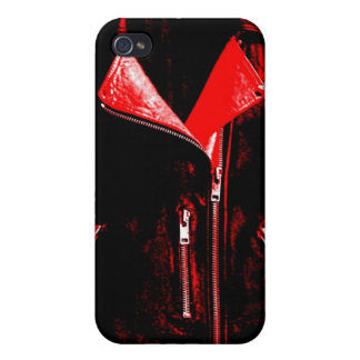 Lederjacke-Rot iPhone 4 Case