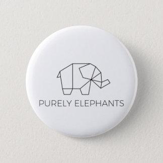 Lediglich Elefant-Knopf Runder Button 5,1 Cm