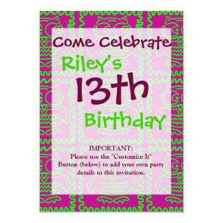 L'édredon de patchwork de hiboux d'amusement carton d'invitation  12,7 cm x 17,78 cm