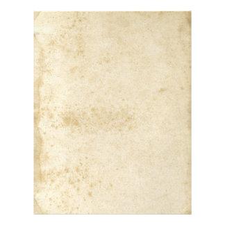 Leere Antike befleckter 1870's alter PapierFlyer Flyer