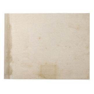 Leere Beige beunruhigte Antike beflecktes Papier Notizblock
