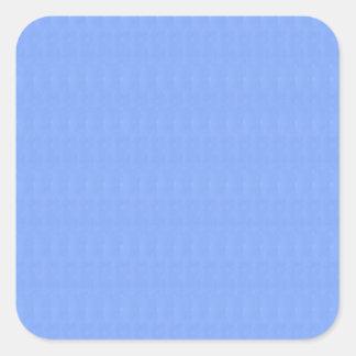 Leere blaue Beschaffenheits-Schablone DIY addieren Quadratischer Aufkleber