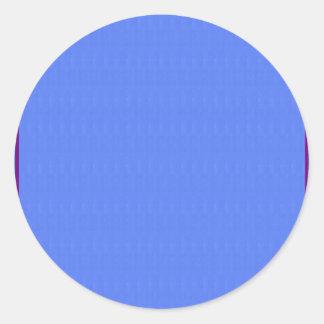 Leere blaue Beschaffenheits-Schablone DIY addieren Runder Aufkleber