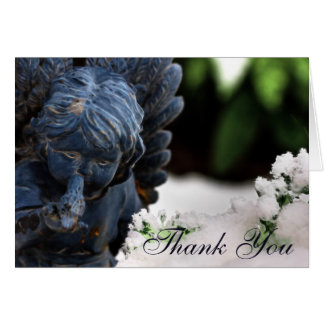 Leere Gewohnheit danken Ihnen Engel Karte