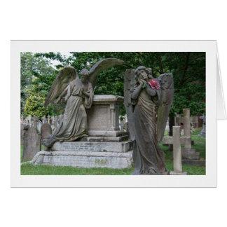 Leere Gruß-Karte: Engel mit Blume Karte