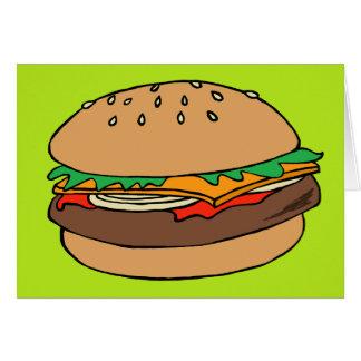 Leere Grußkarte des Hamburgers