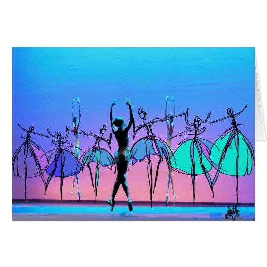 Leere Karte der Ballerina
