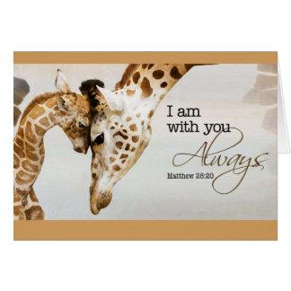 Leere Karte der Giraffe