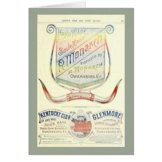 Leere Karte mit historischem Whiskyaufkleber 1893
