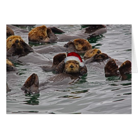 Leere Otter-Sankt-Karte Grußkarte