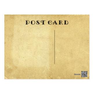 Leere rustikale Antike gealtertes beflecktes Postkarte