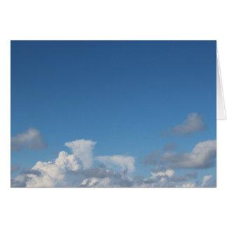 Leere Wolken-Karten Grußkarte