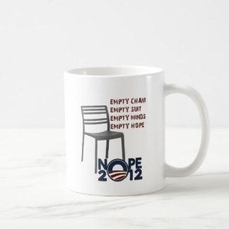 Leerer Stuhl, leerer Obama Kaffeetasse