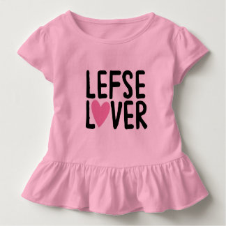 Lefse Liebhaber-Rüsche-Shirt Kleinkind T-shirt