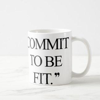 Legen Sie an Ihrem neuen Training fest! Kaffeetasse