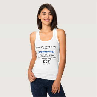 Legen Sie Ihr Telefon-Shirt nieder Tank Top