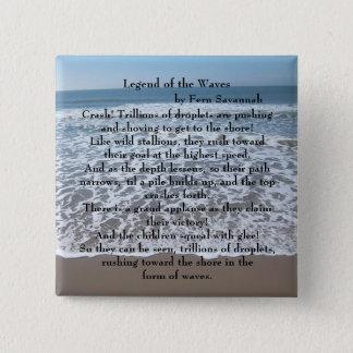 Legende der Wellen - Farn-Savanne; Knopf/Button